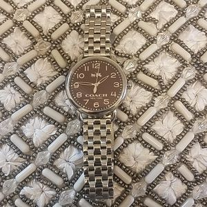Women's coach delancey silver-ton bracelet watch